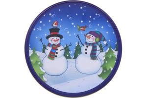 Smart Living Christmas Round Cookie Tin