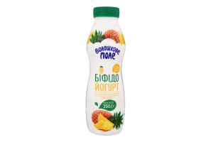 Бифидойогурт 1.5% Ананас Волошкове поле п/бут 350г