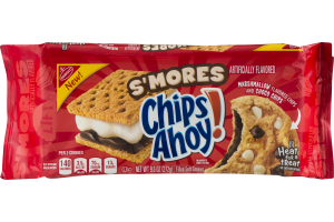 Nabisco S'mores Chips Ahoy! Filled Soft Cookies