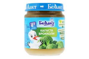 Пюре для детей от 4мес Капуста броколли Беллакт с/б 100г