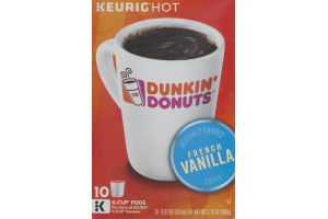 Dunkin' Donuts K-Cup Pods French Vanilla - 10 CT