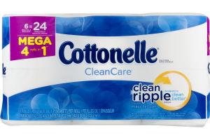 Cottonelle CleanCare Toilet Paper Mega Rolls - 6 CT