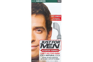 Just For Men Autostop Formula Easy Comb-In Haircolor A-45 Dark Brown
