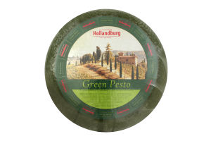 Сир твердий 50% Green Pesto Hollandburg кг