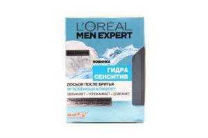 """Лосьйонпісля гоління шкіри обличчя Men Expert """"Миттєвий комфорт Loreal100 мл"""
