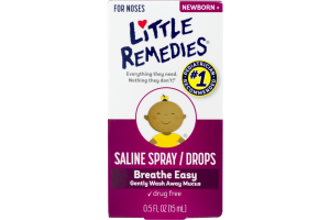 Little Remedies Saline Spray / Drops For Noses Newborn +
