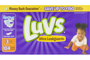 Luvs Diapers Ultra Leakguards 16-28 lb - 104 CT