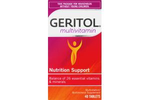 Geritol Multivitamin Nutrition Support Tablets - 40 CT