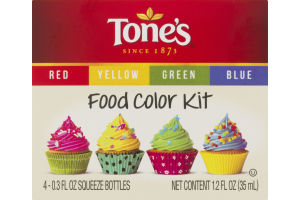 Tone's Food Color Kit