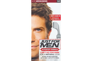 Just For Men AutoStop Formula Easy Comb-in Haircolor A35 Medium Brown