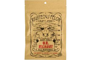Righteous Felon Beef Jerky O.G. Hickory