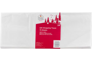 Smart Living Holiday Gift Wrapping Tissue - 75 Sheets