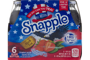Snapple All Natural Strawberry Tea with a Hint of Mint - 6 CT