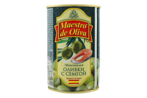 Оливки з сьомгою Мансанілья Maestro de Oliva з/б 300г