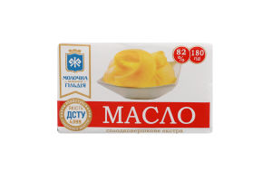 Масло 82% сладкосливочное екстра Молочна гільдія м/у 180г