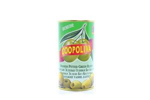 Оливки Coopoliva зеленые без косточки 350г/370мл