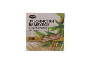 Зубочистки Премія бамбуковые в картонной коробке