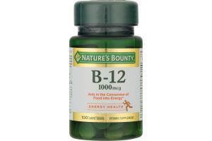 Nature's Bounty Vitamin B-12 1000 MCG - 100 CT