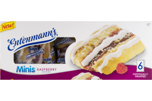 Entenmann's Minis Raspberry Danish - 6 CT