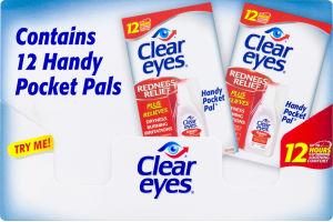 Clear Eyes Handy Pocket Pal Redness Relief Eye Drops - 12 PK