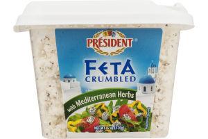 President Feta Crumbled with Mediterranean Herbs