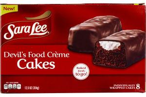 Sara Lee Devil's Food Creme Cakes - 8 CT