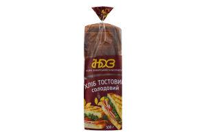 Хлеб тостовый Солодовый Ново-Баварський хлібозавод м/у 500г