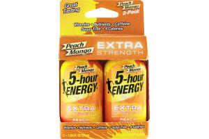 5-Hour Energy Extra Strength Dietary Supplement Peach Mango - 2 CT