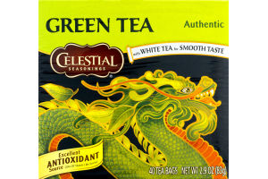 Celestial Seasonings Authentic Green Tea - 40 CT
