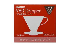 Пуровер для заваривания кофе V60 02 №VD-02R Hario 1шт