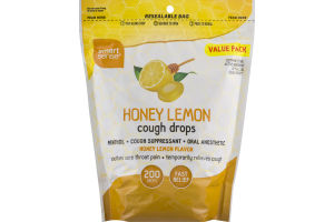Smart Sense Honey Lemon Cough Drops - 200 CT