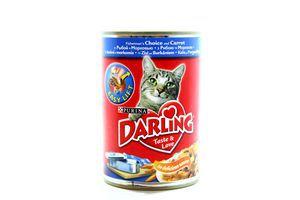 Корм для котов рыба-морковь жестяная банка Darling 400г