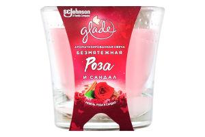 Свеча ароматизированная Безмятежная роза и сандал Glade 129г