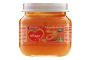 Пюре дитяче фруктове Яблуко й абрикос Milupa для дітей від 6 місяців 100г