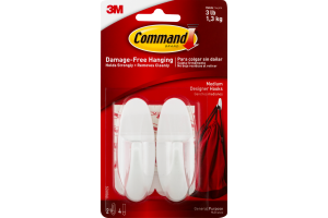 Command General Purpose Hooks Medium Designer - 2 CT