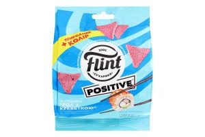 Сухарики пшеничные Рол с креветкой Positive Flint м/у 90г
