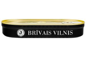 Шпроты крупные в масле Brivais Vilnis ж/б 190г