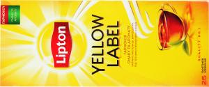 Чай черный Yellow Label Tea Lipton к/у 25х2г