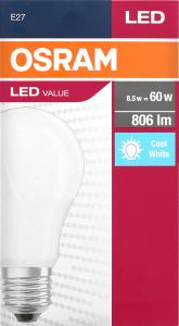 Лампа OSRAM Value LED A60 9,5W 4000К E27