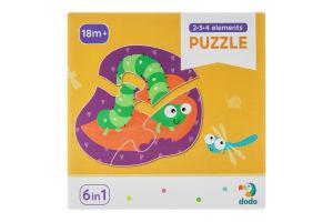 Пазл для дітей від 18міс №300253 Комахи 2-3-4 елементи Dodo 18ел