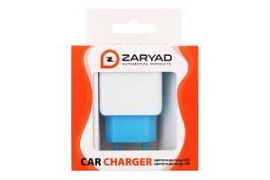 Устройство зарядное сетевое на два гнезда USB Zaryad 1шт