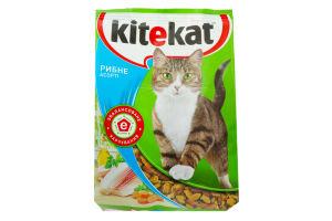 Корм для взрослых котов Рыбное ассорти Kitekat м/у 1кг