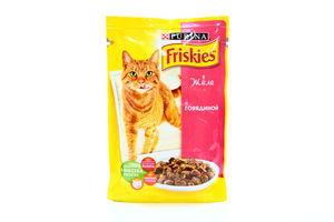 Корм для котов говядина в желе мягкая упаковка Friskies Purina 100г