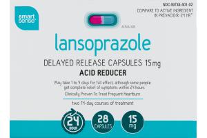 Smart Sense Lansoprazole Acid Reducer Delayed Release Capsules - 26 CT