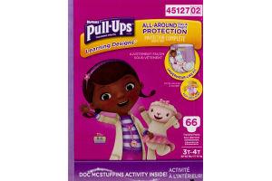 Huggies Pull-Ups Training Pants Disney Learning Designs 3T-4T - 66 CT