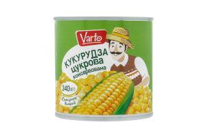 ВАРТО Кукурудза цукрова вакуумована з/б 340г