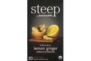 Steep By Bigelow Caffiene Free Herbal Tea Organic Lemon Ginger - 20 CT