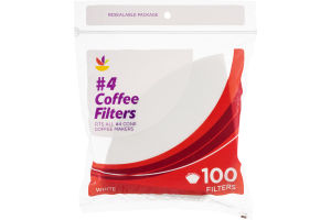 Ahold #4 Coffee Filters White - 100 CT