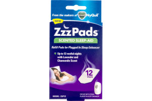 ZzzPads Scented Sleep-Aid Pads Lavender and Chamomile Scent - 12 CT