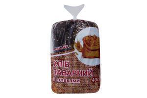 Хлеб заварной со злаками нарезной Поліссяхліб 400г